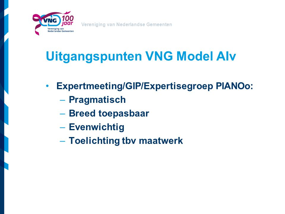 Uitgangspunten VNG Model AIv