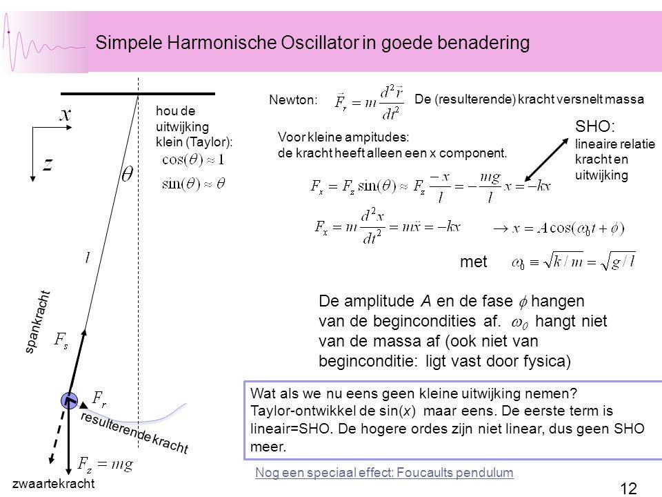 Simpele Harmonische Oscillator in goede benadering