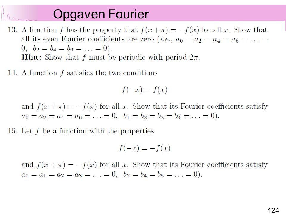 Opgaven Fourier