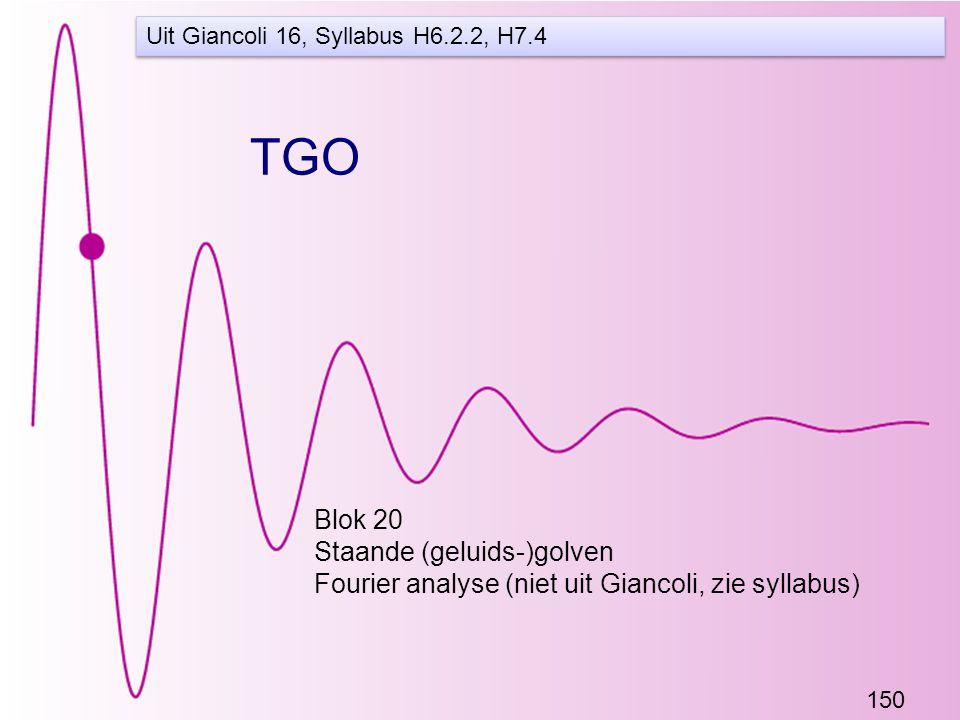 TGO Blok 20 Staande (geluids-)golven
