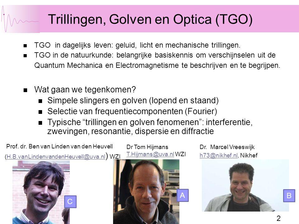 Trillingen, Golven en Optica (TGO)