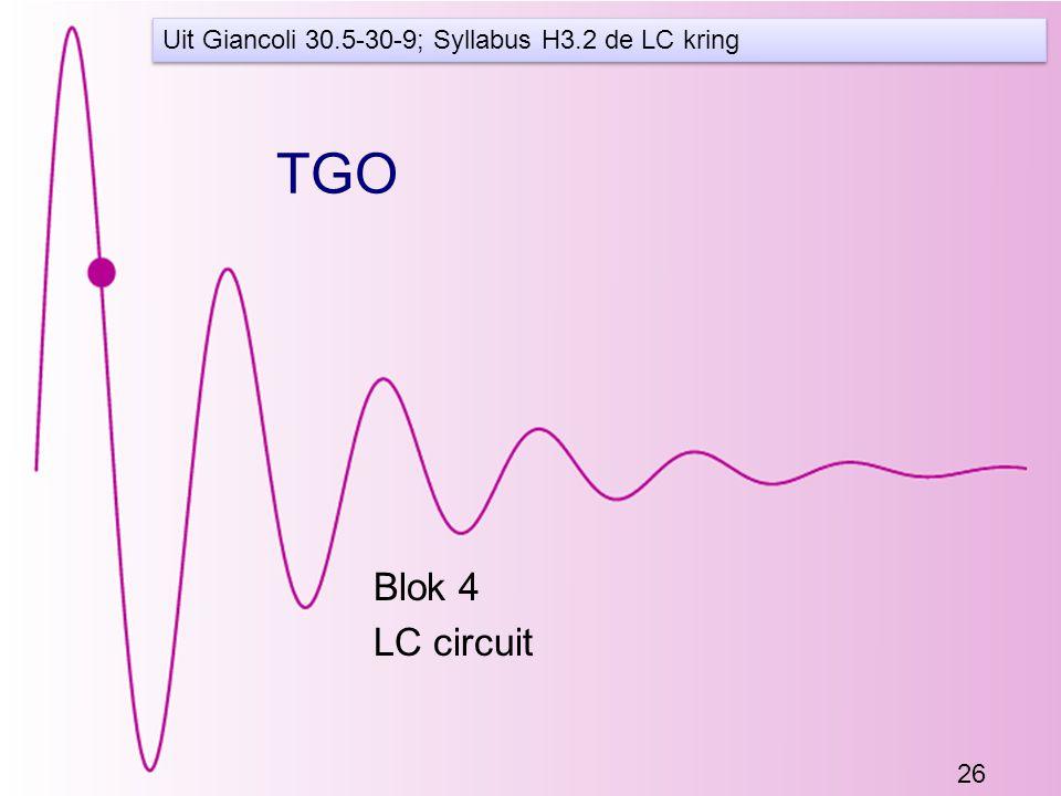 Uit Giancoli 30.5-30-9; Syllabus H3.2 de LC kring