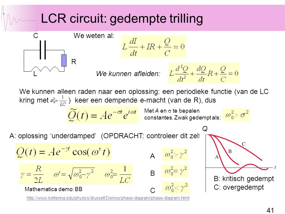 LCR circuit: gedempte trilling
