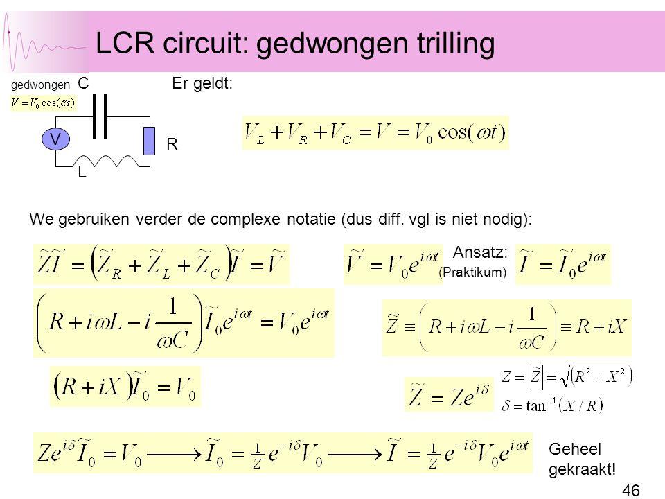 LCR circuit: gedwongen trilling