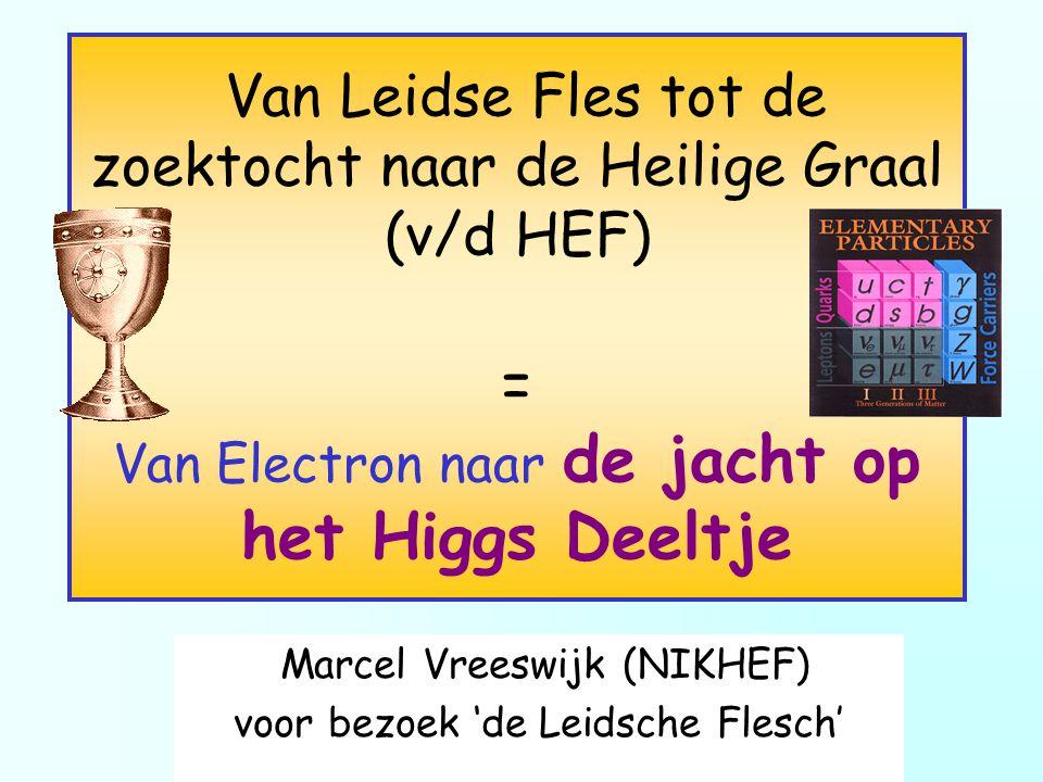 Marcel Vreeswijk (NIKHEF) voor bezoek 'de Leidsche Flesch'