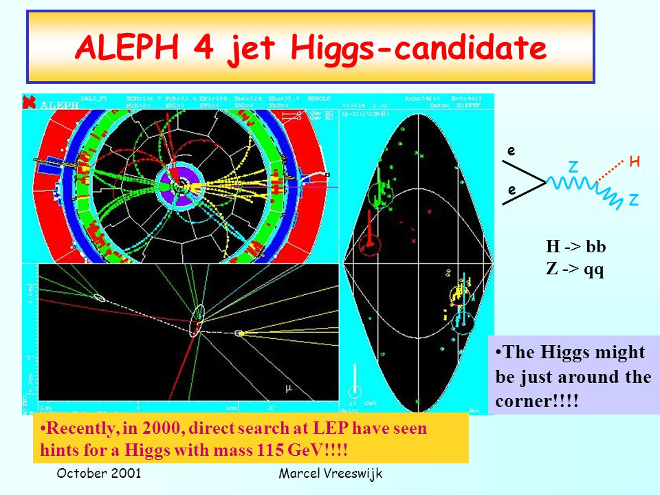ALEPH 4 jet Higgs-candidate
