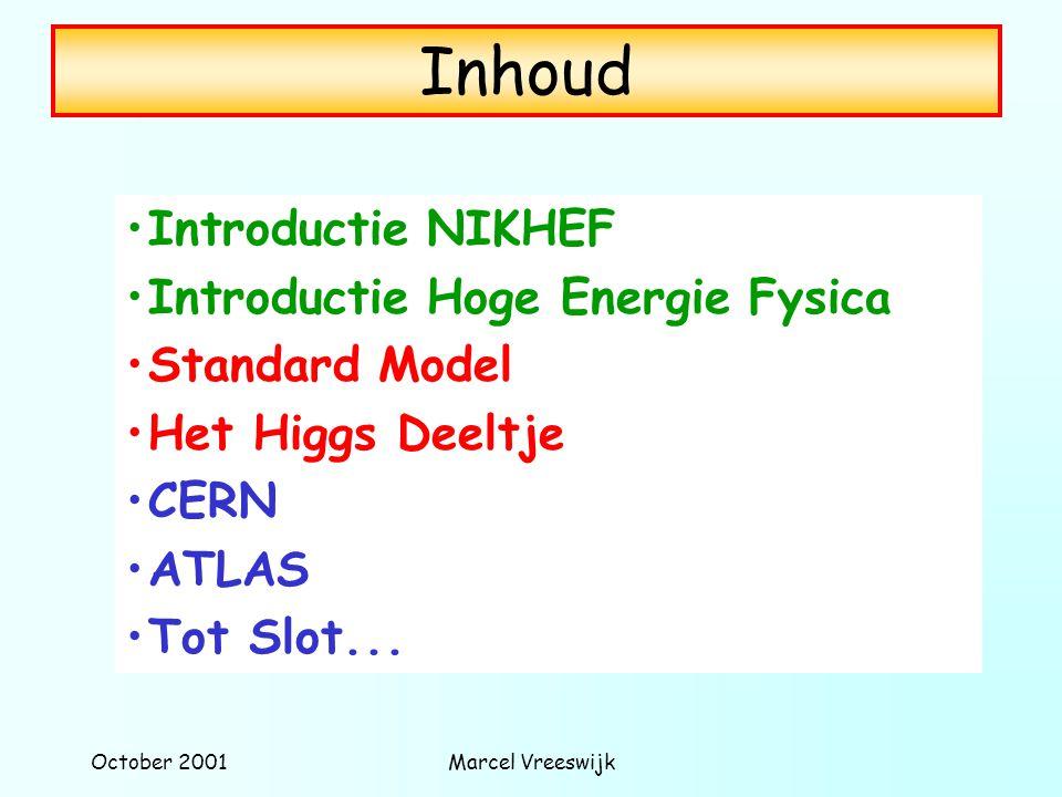 Inhoud Introductie NIKHEF Introductie Hoge Energie Fysica