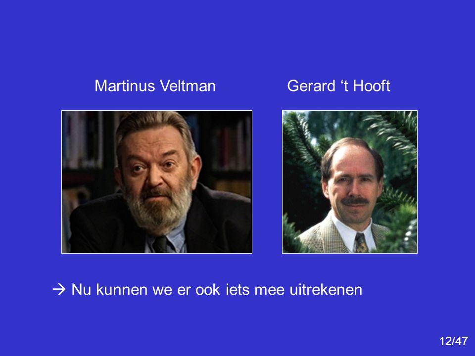 Martinus Veltman Gerard 't Hooft
