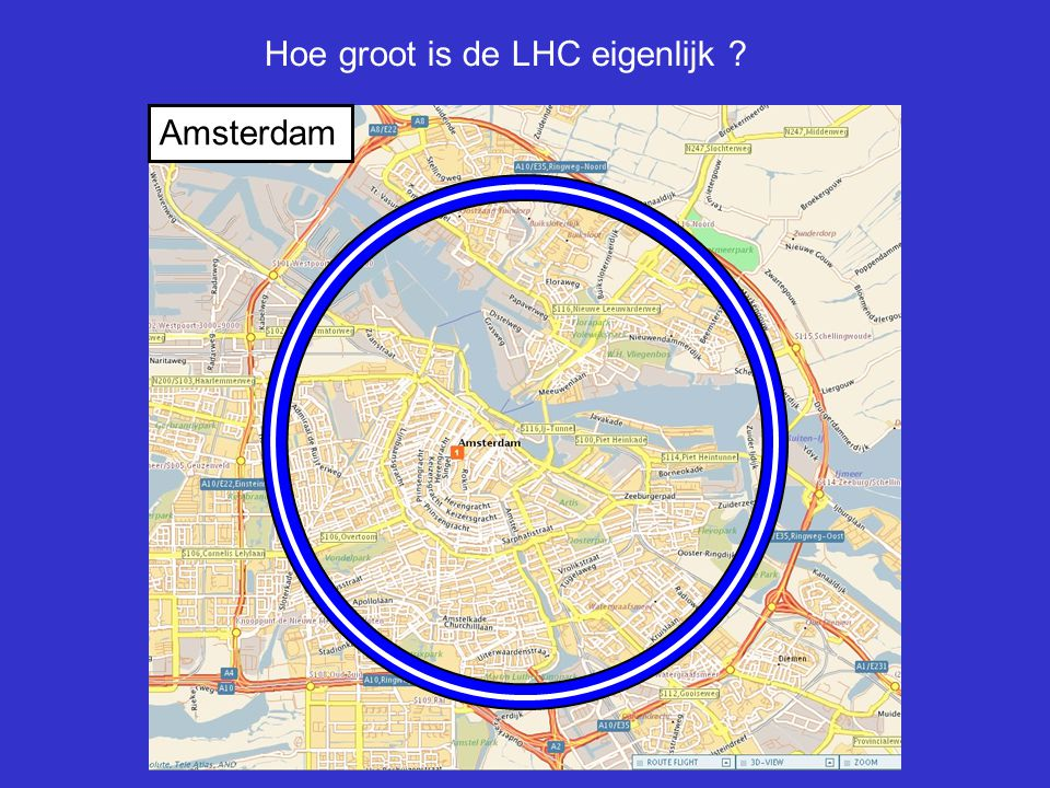Hoe groot is de LHC eigenlijk