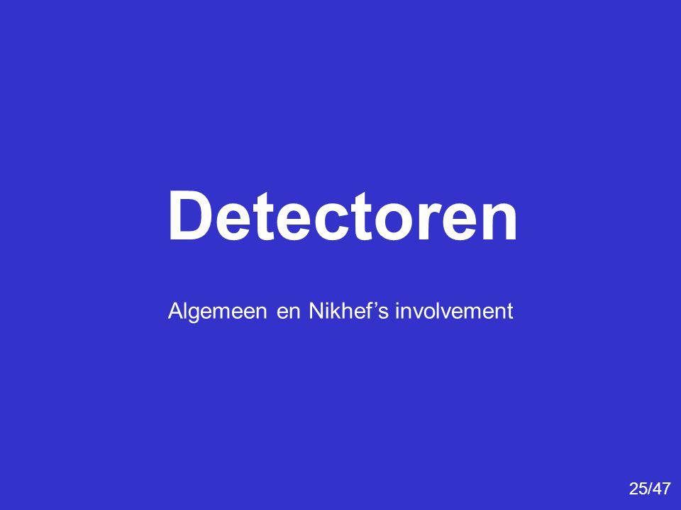 Detectoren Algemeen en Nikhef's involvement 25/47