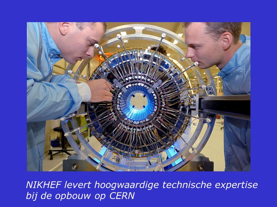 NIKHEF levert hoogwaardige technische expertise bij de opbouw op CERN