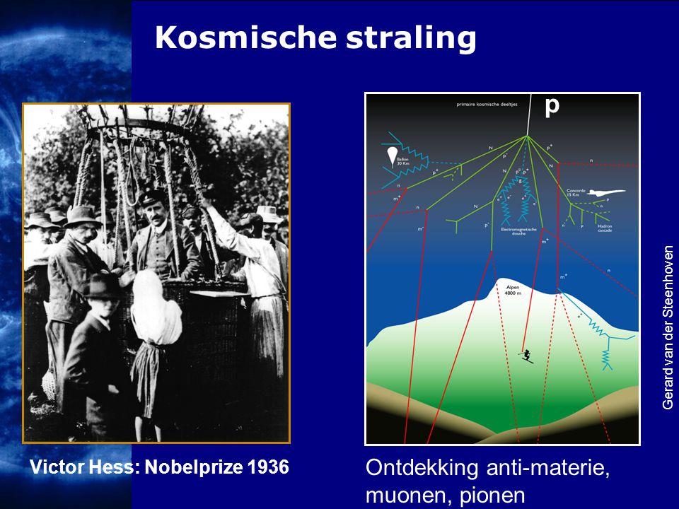 Kosmische straling p Ontdekking anti-materie, muonen, pionen