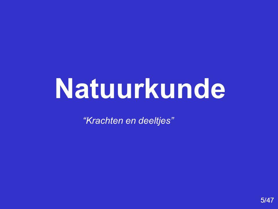 Natuurkunde Krachten en deeltjes 5/47