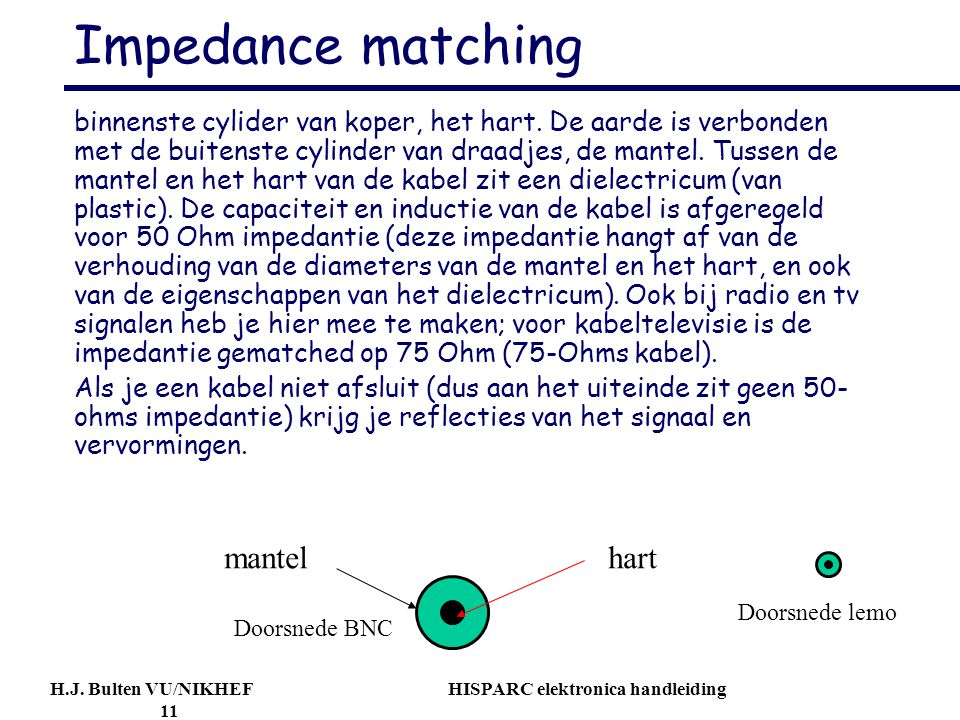 Impedance matching mantel hart
