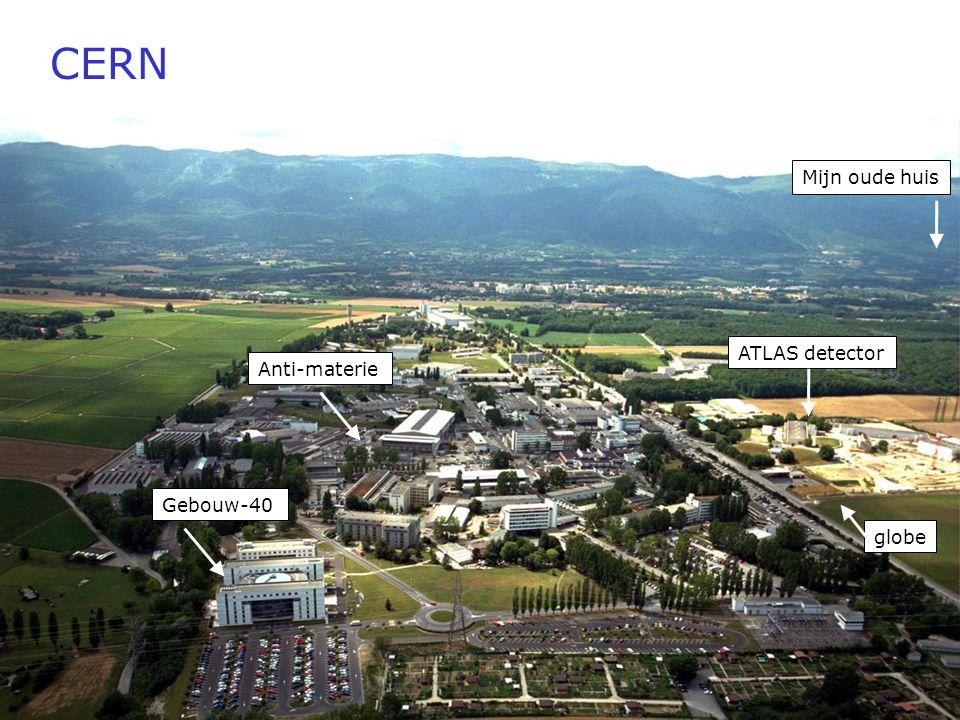 CERN Mijn oude huis ATLAS detector Anti-materie Gebouw-40 globe