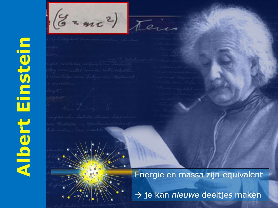 Albert Einstein Energie en massa zijn equivalent