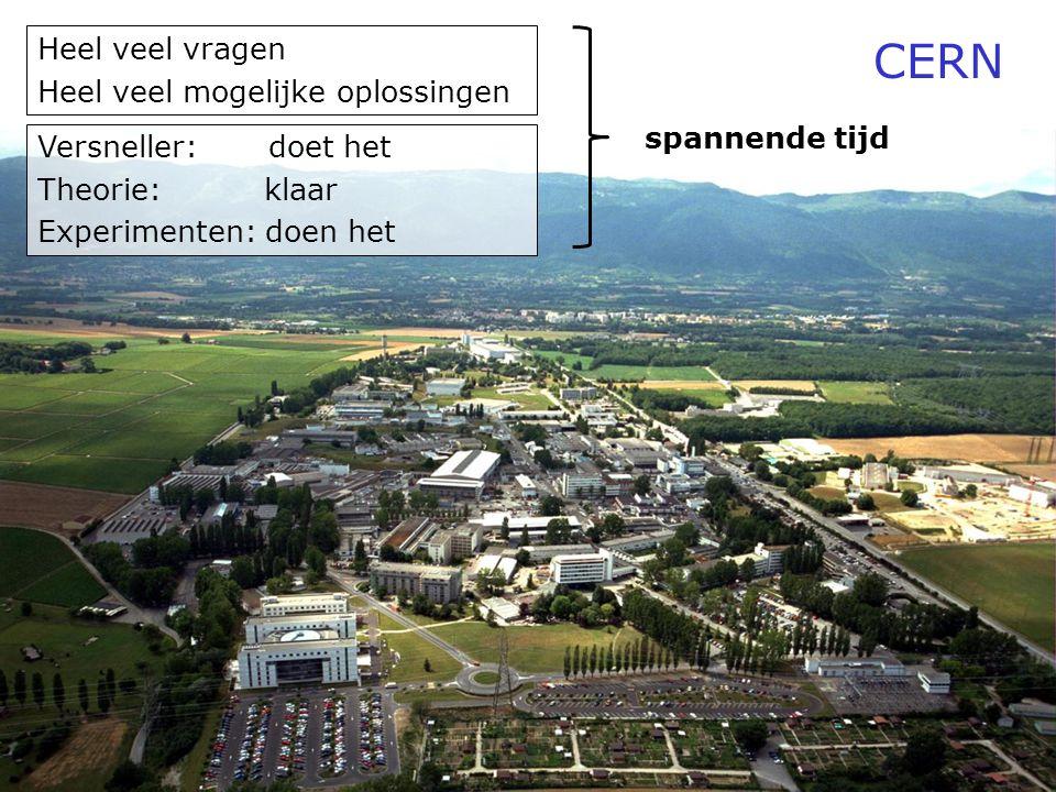 CERN Heel veel vragen Heel veel mogelijke oplossingen spannende tijd