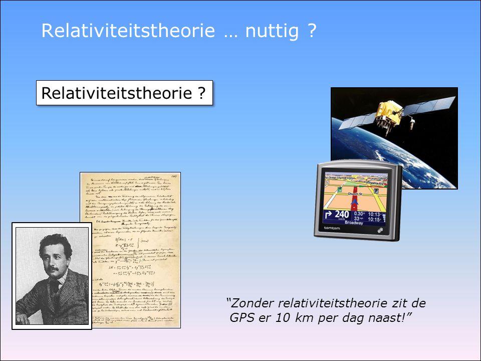 Relativiteitstheorie … nuttig