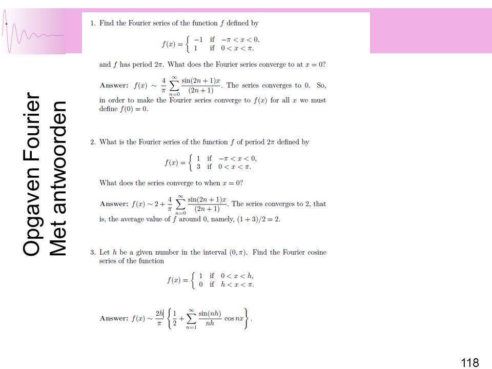 Opgaven Fourier Met antwoorden