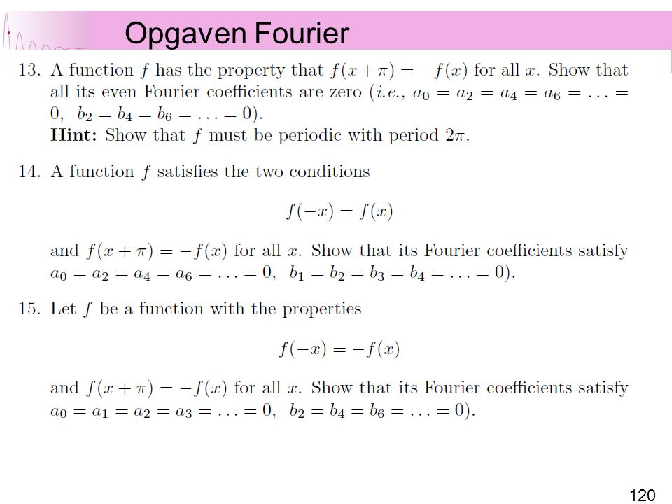 Opgaven Fourier
