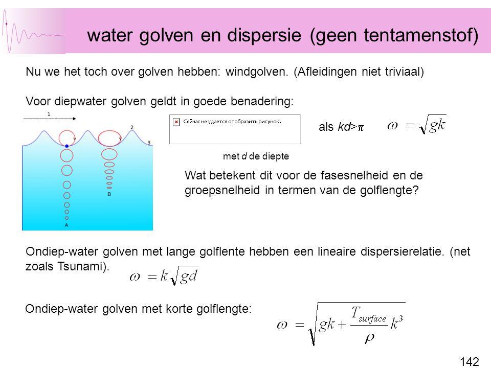 water golven en dispersie (geen tentamenstof)