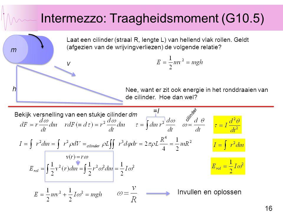 Intermezzo: Traagheidsmoment (G10.5)