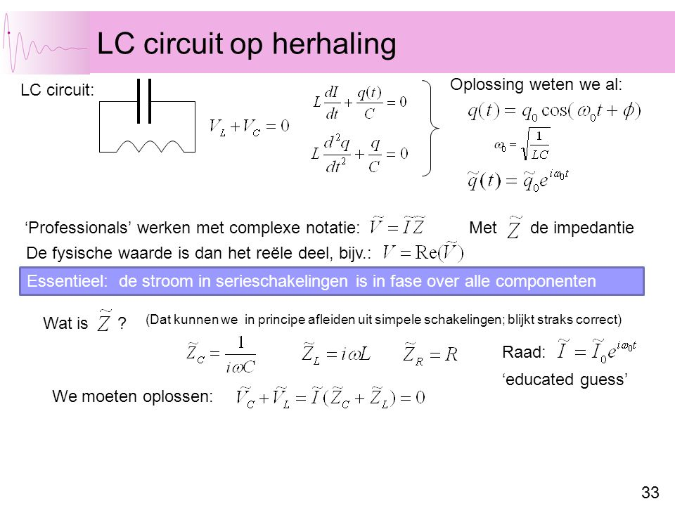 LC circuit op herhaling