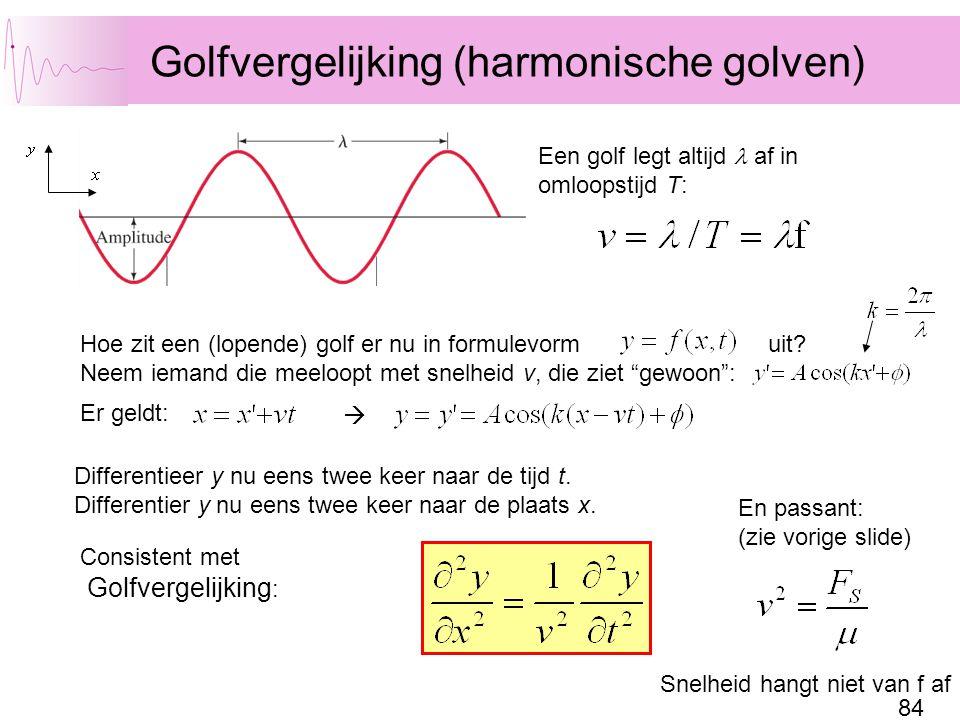 Golfvergelijking (harmonische golven)