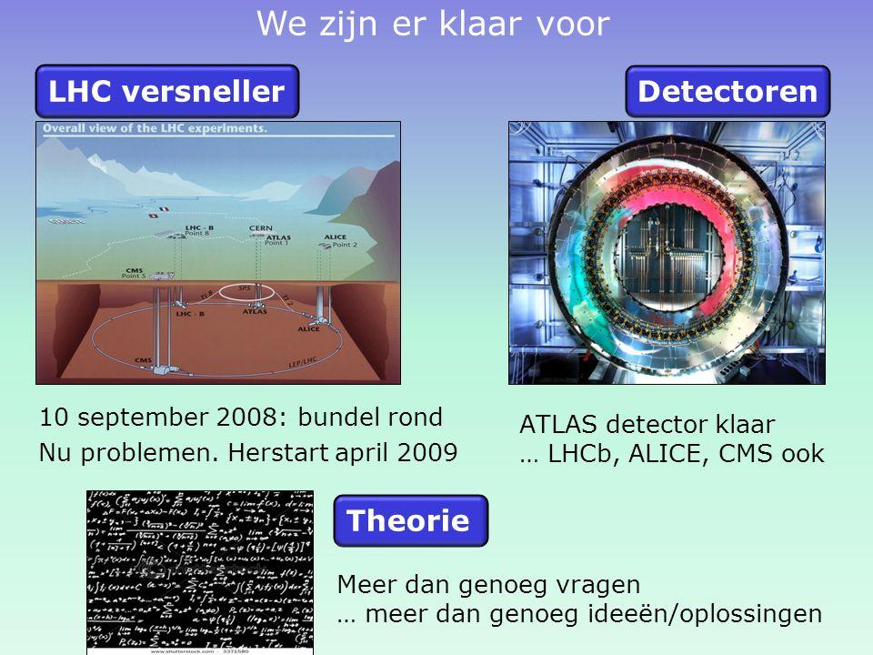 We zijn er klaar voor LHC versneller Detectoren Theorie