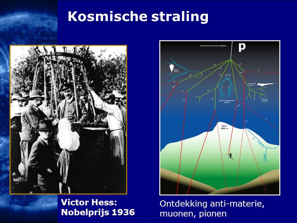 Kosmische straling p Victor Hess: Nobelprijs 1936