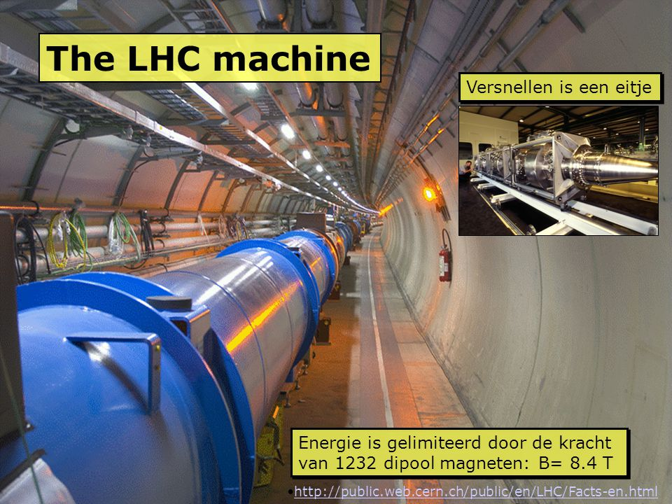 The LHC machine Versnellen is een eitje