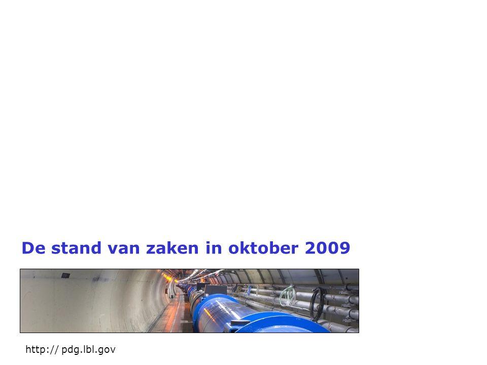 De stand van zaken in oktober 2009