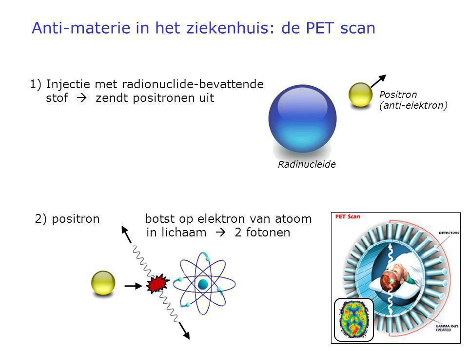 Anti-materie in het ziekenhuis: de PET scan