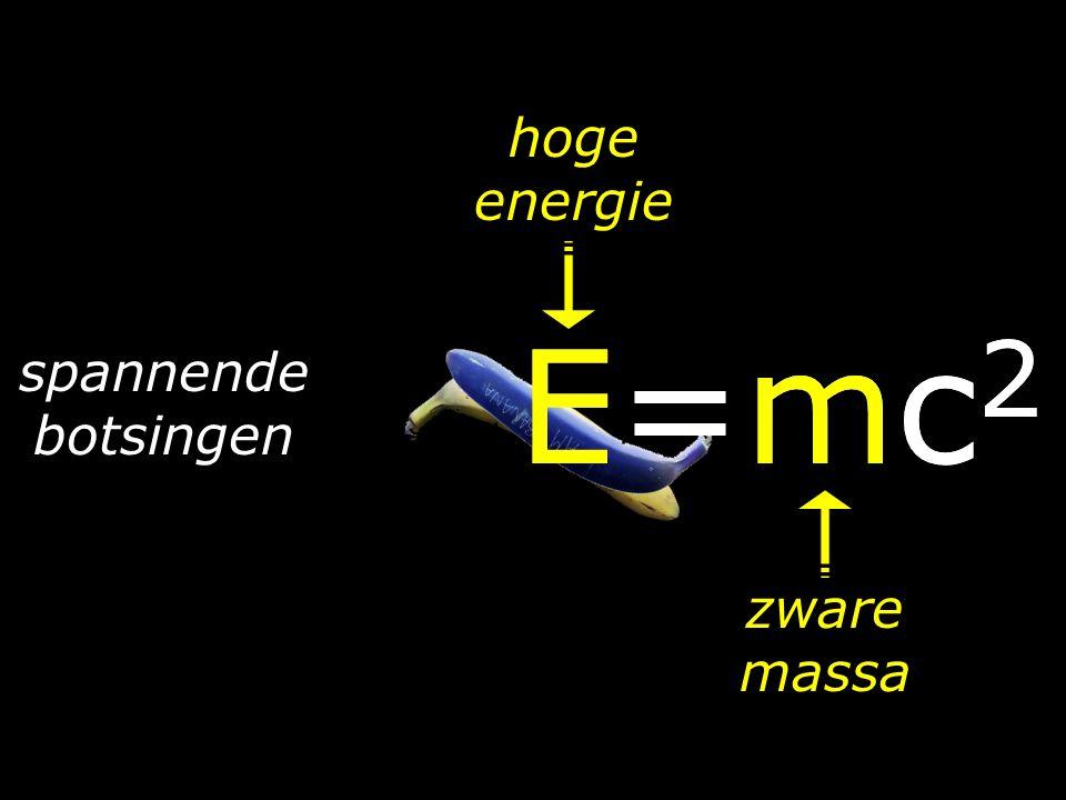 hoge energie E=mc2 E=mc2 spannende botsingen zware massa
