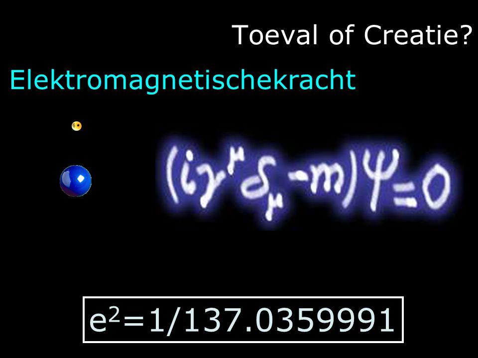 Toeval of Creatie Elektromagnetischekracht e2=1/137.0359991