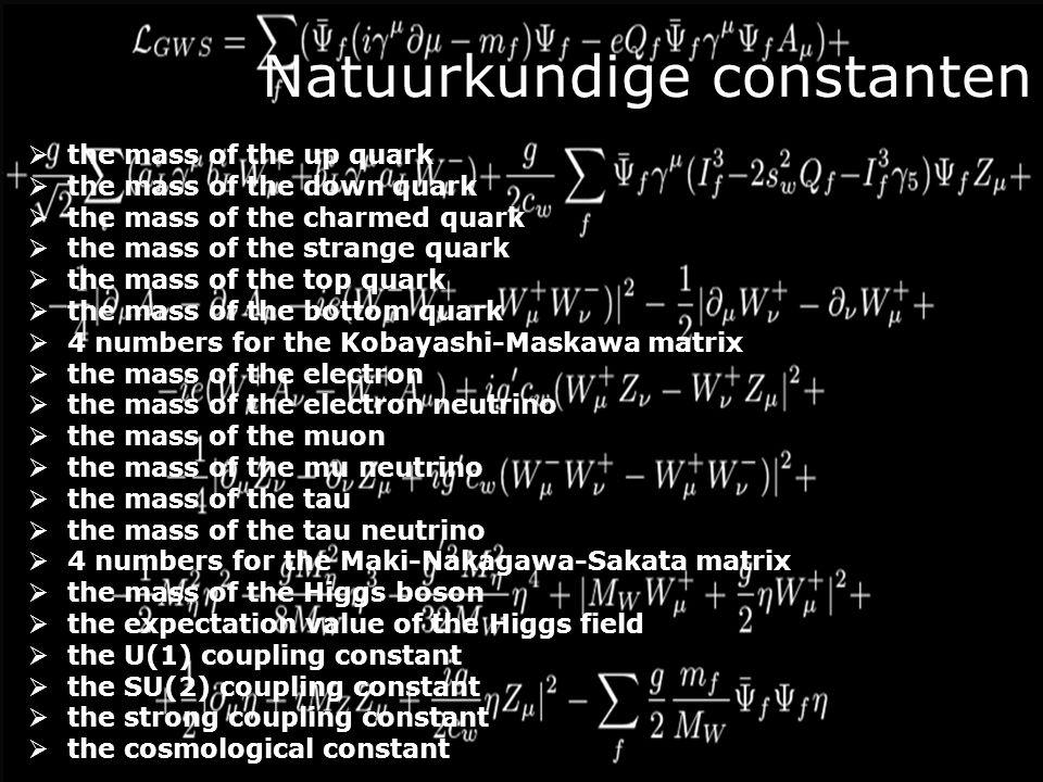 Natuurkundige constanten