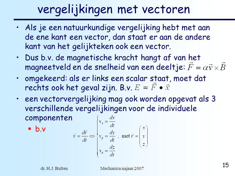 vergelijkingen met vectoren