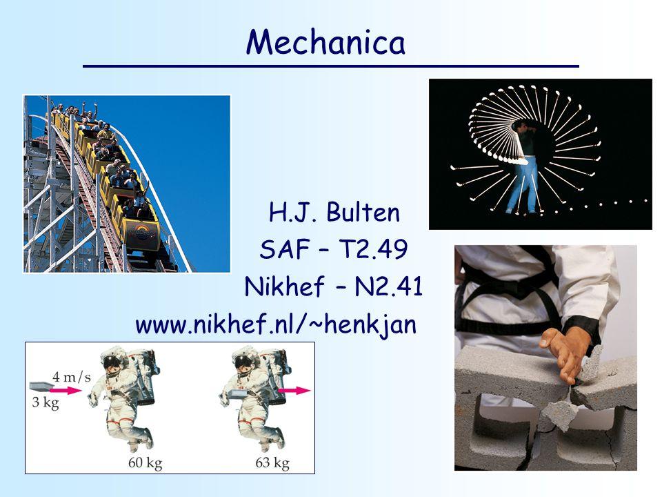 H.J. Bulten SAF – T2.49 Nikhef – N2.41 www.nikhef.nl/~henkjan