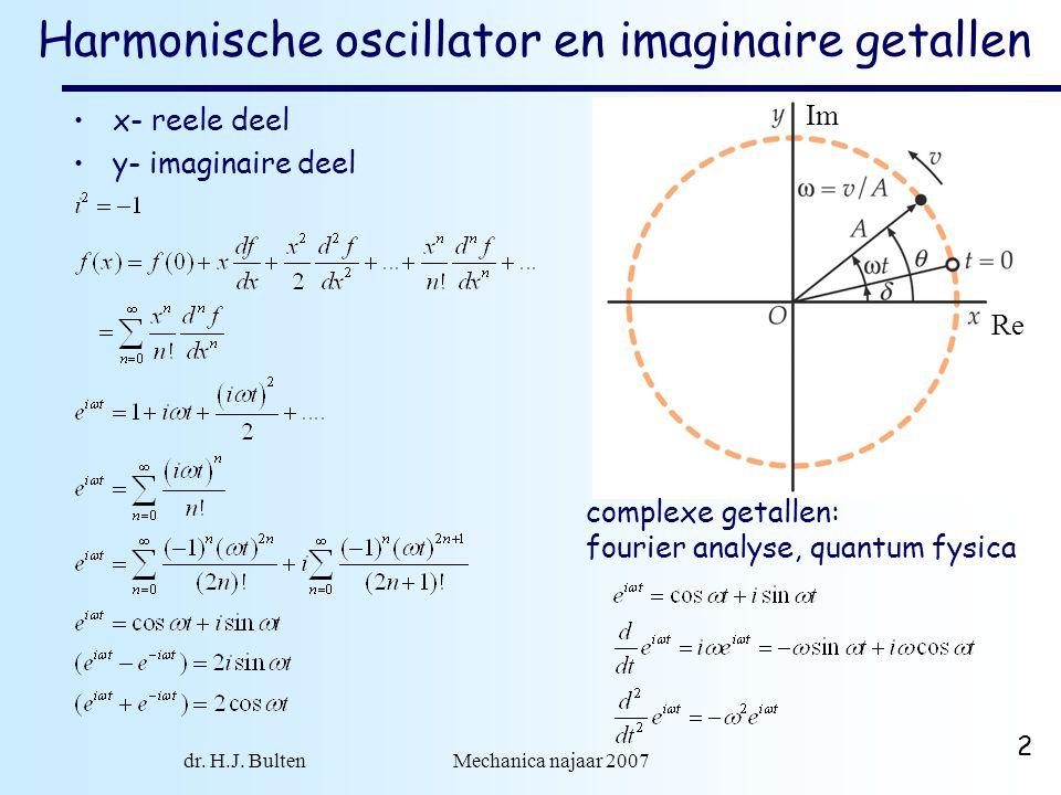 Harmonische oscillator en imaginaire getallen