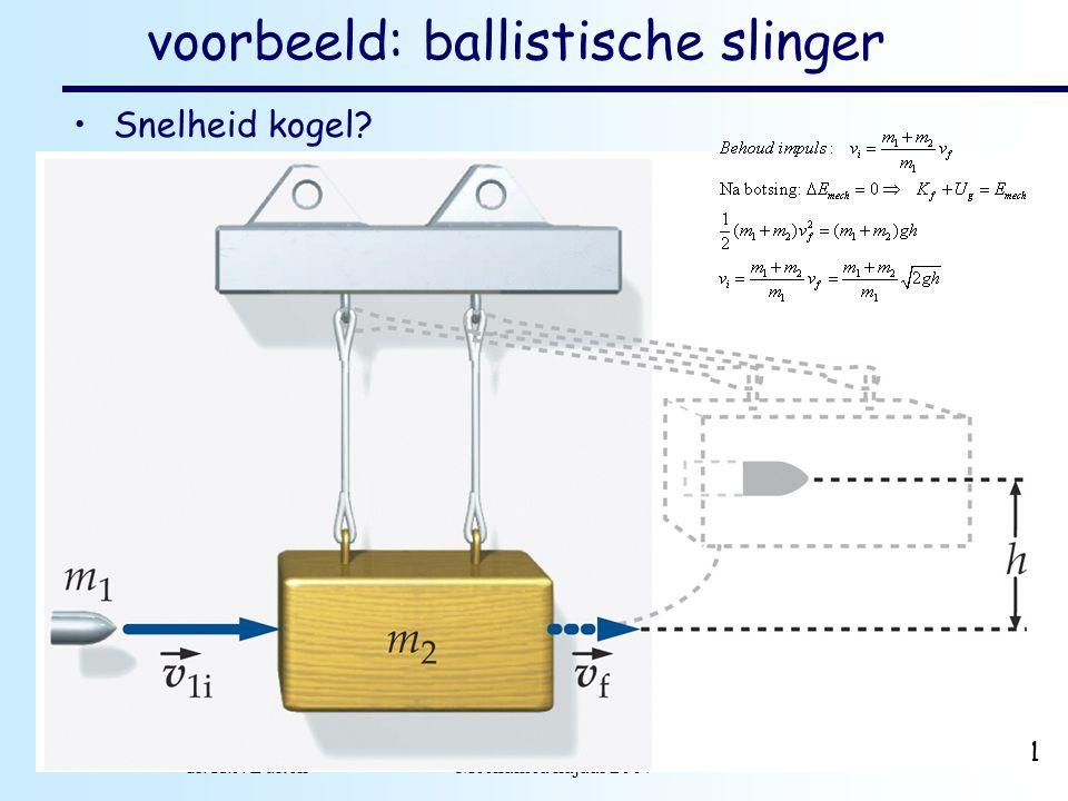 voorbeeld: ballistische slinger