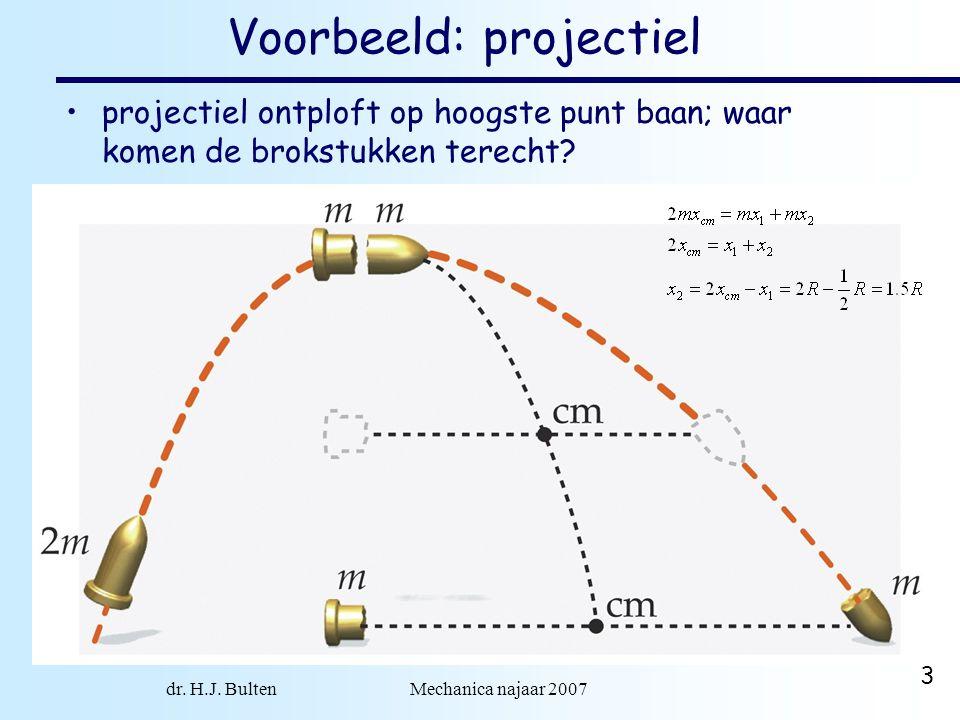 Voorbeeld: projectiel
