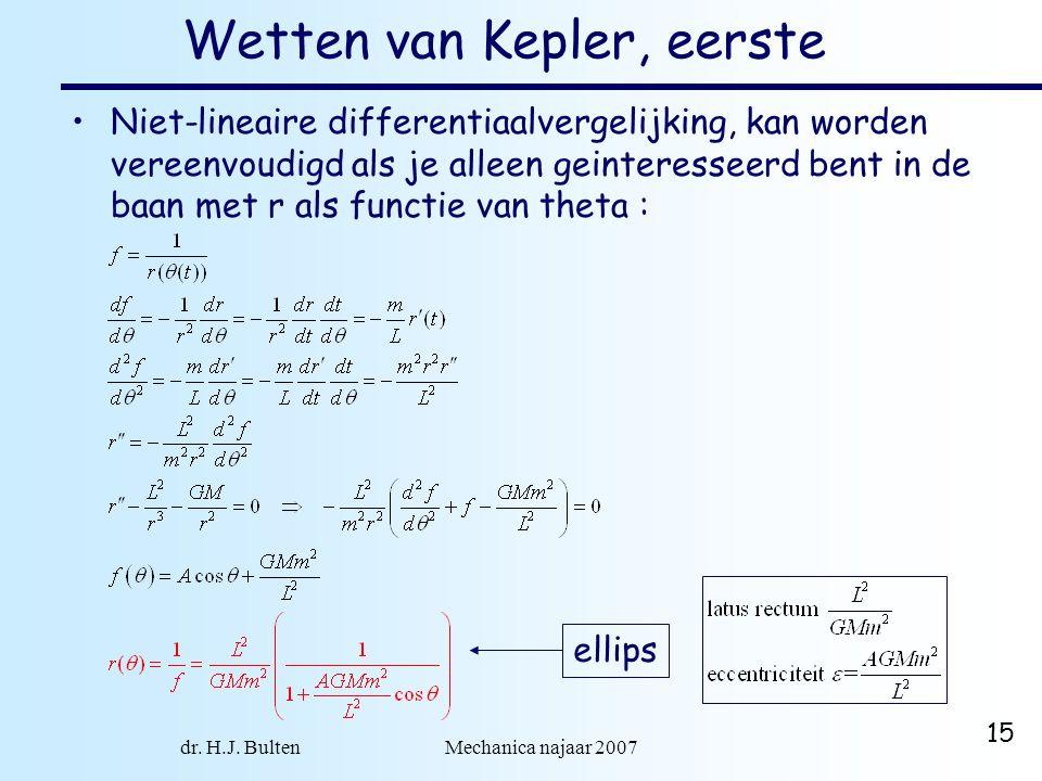 Wetten van Kepler, eerste