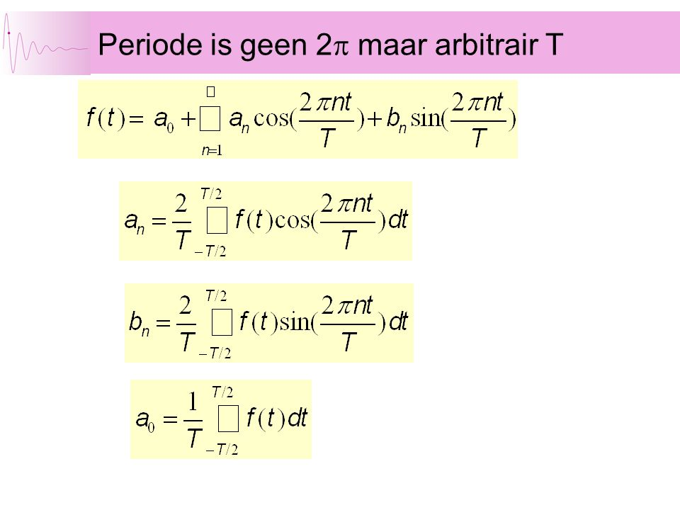 Periode is geen 2p maar arbitrair T
