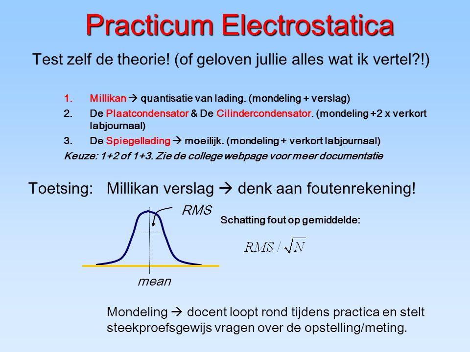 Practicum Electrostatica