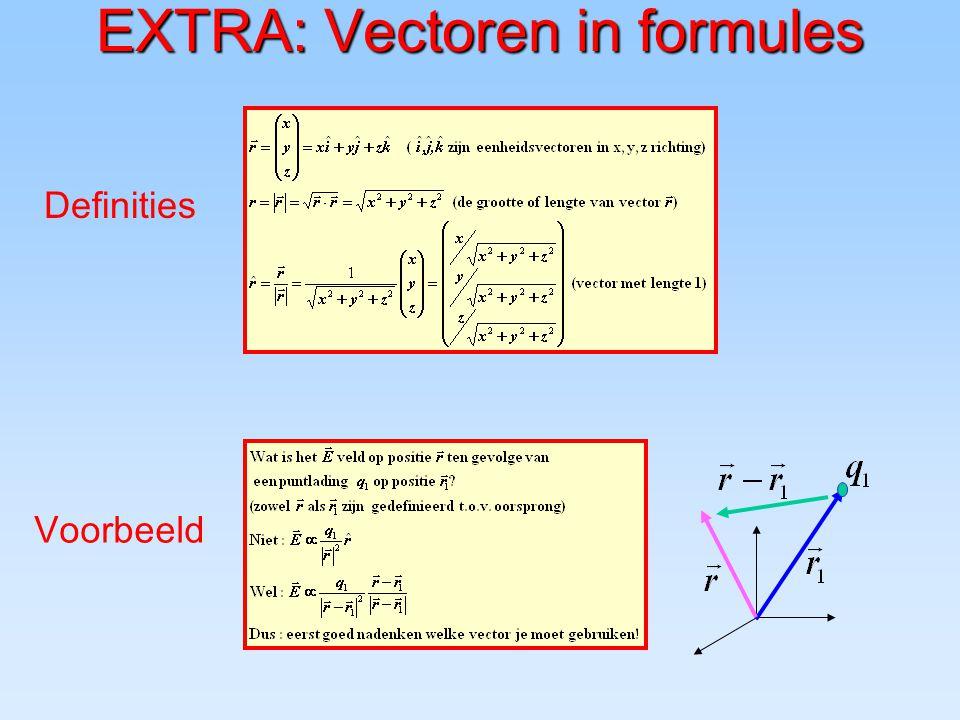 EXTRA: Vectoren in formules
