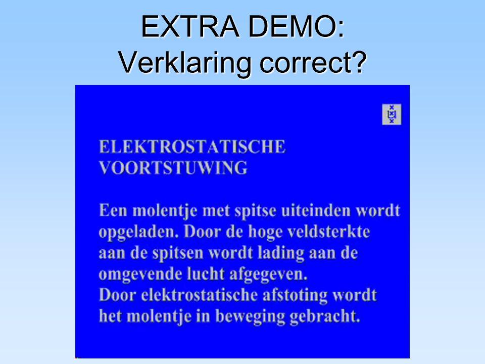 EXTRA DEMO: Verklaring correct