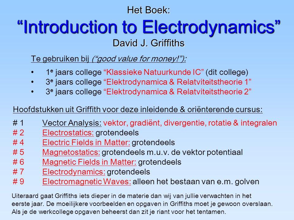 Het Boek: Introduction to Electrodynamics David J. Griffiths