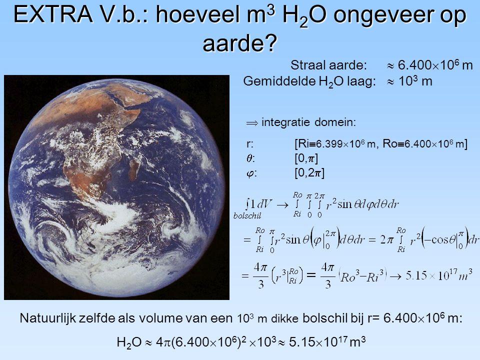 EXTRA V.b.: hoeveel m3 H2O ongeveer op aarde