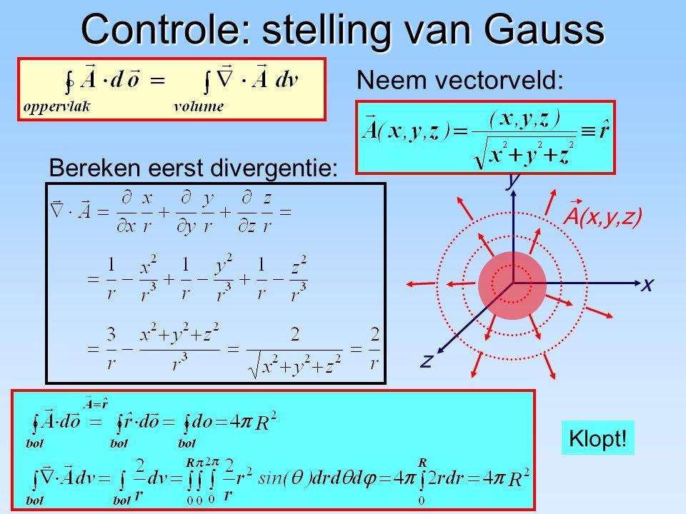 Controle: stelling van Gauss