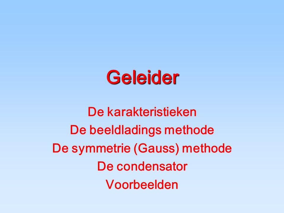 De beeldladings methode De symmetrie (Gauss) methode